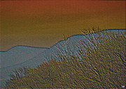 Mountains Mixed Media - Mountain Ridge Glow by Debra     Vatalaro