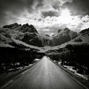 Scenic Landscape Prints - Mountain Road Print by David Bowman