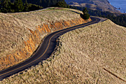 Pavement Metal Prints - Mountain Road Metal Print by Garry Gay