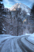 Snowy Mountain Loop Photos - Mountain Road in Winter by Utah Images