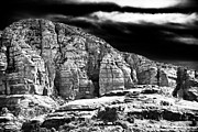 Black And White Mountain Prints Framed Prints - Mountain Rocks Framed Print by John Rizzuto