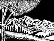 Mountain Scene Print by Aloysius Patrimonio