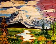 Ringo Painting Originals - Mountain Serenity by J Ringo