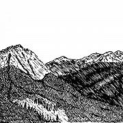 Ink Drawing Prints - Mountain Side Print by Karl Addison