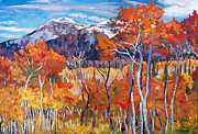 Big Sky Paintings - Mountain Silence by David Lloyd Glover