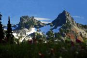 Snow Digital Art - Mountain splendor by David Lee Thompson