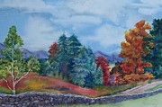 Stonewall Painting Originals - Mountain Stonewall by Tina Farney