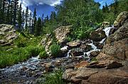 Colorado Digital Art Originals - Mountain Stream 3 by Pete Hellmann