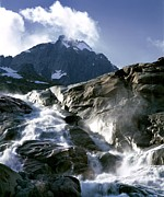 Mountain Stream, Swiss Alps Print by Martin Bond