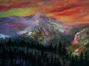 Mountain Summit Print by Jeffrey m Bozik