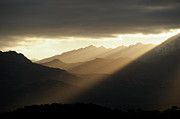 Mountains Art - Mountain Sunrise by Andr Leopold
