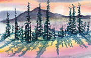 Frank Santagata Prints - Mountain Sunrise Print by Frank SantAgata