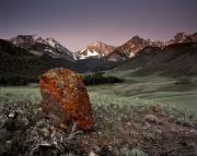 The West Prints - Mountain Textures and Light Print by Leland Howard