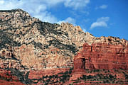 Red Rocks Framed Prints - Mountain Top in Sedona Framed Print by John Rizzuto