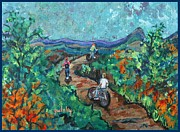 Mountain Bike Paintings - Mountain Trail by Paintings by Gretzky