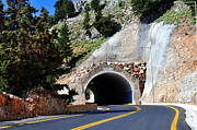 Mountain Road Photo Prints - Mountain tunnel. Print by Fernando Barozza