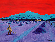 Crops Paintings - Mountain Valley Farmer by Randall Weidner