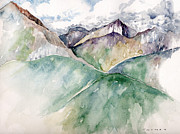 National Park Paintings - Mountain View Colorado by Catherine Twomey