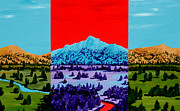 Mountain Valley Paintings - Mountain View by Randall Weidner