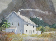 Villa Paintings - Mountain Villa by Jim Soldo