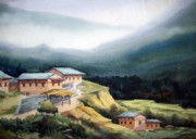 Samiran Sarkar - Mountain Village from...