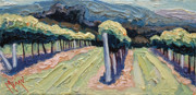 Cakebread Art - Mountain Vineyard by Christopher Mize