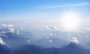 Stratosphere Photos - Mountain With Blue Sky And Clouds by Setsiri Silapasuwanchai