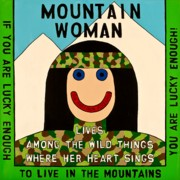 Outsider Art Paintings - Mountain Woman by MaryAnn Kikerpill