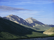 Laboratories Prints - Mountains Above Gran Sasso Lab Print by Volker Steger