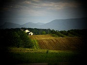 Shenandoah Valley Posters - Mountains And Farm Poster by Joyce  Kimble Smith