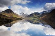 Snow Covered Prints - Mountains And Lake, Lake District Print by John Short