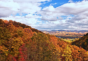 Fall Photos Prints - Mountains and Valleys of West Virginia in Fall Print by Kathleen K Parker