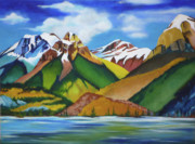 Snow-covered Landscape Originals - Mountains by Craig Johnstone
