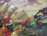 Suzanne  Marie Leclair - Mountains in Autumn