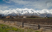 Snow Cap Photos - Mountains in Logan Utah by James Steele