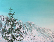 Great Outdoors Paintings - Mountains by Natasha Denger