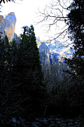 Yosemite Village Prints - Mountains of Yosemite . 7D6214 Print by Wingsdomain Art and Photography