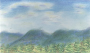 New England. Pastels Prints - Mountains Over Lennox Print by Denny Morreale