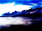View Digital Art - Mountains by Steve Thorpe