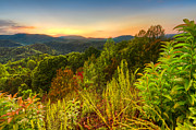 Sunset Greeting Cards Prints - Mountainside Print by Debra and Dave Vanderlaan