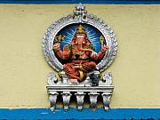 Sculpted Framed Prints - Mounted Ganesha Framed Print by Nila Newsom