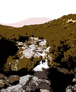Stream Posters Greeting Cards Posters - Mourne Mountain Stream Poster by Patrick J Murphy