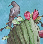 Blooming Painting Posters - Mourning Dove Poster by Sandy Tracey