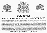 Typeface Prints - Mourning House, 1891 Print by Granger