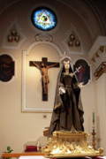 Sulmona Framed Prints - Mourning Madonna Framed Print by Tom  Doherty