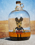 Disney Artist Framed Prints - Mouse In A Bottle  Framed Print by Jerry Cordeiro