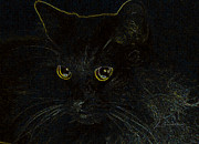 Kitten Prints Prints - Mouse Please Print by Larry Guterson