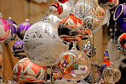 Hand Crafted Art - Mouth-blown hand painted Christmas Ornaments by Christine Till