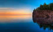 Lake Superior Prints - Mouth Of The Baptism River Minnesota Print by Steve Gadomski
