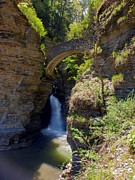 New York State Parks Posters - Mouth of the Glen Watkins Glen State Prk Poster by Joshua House